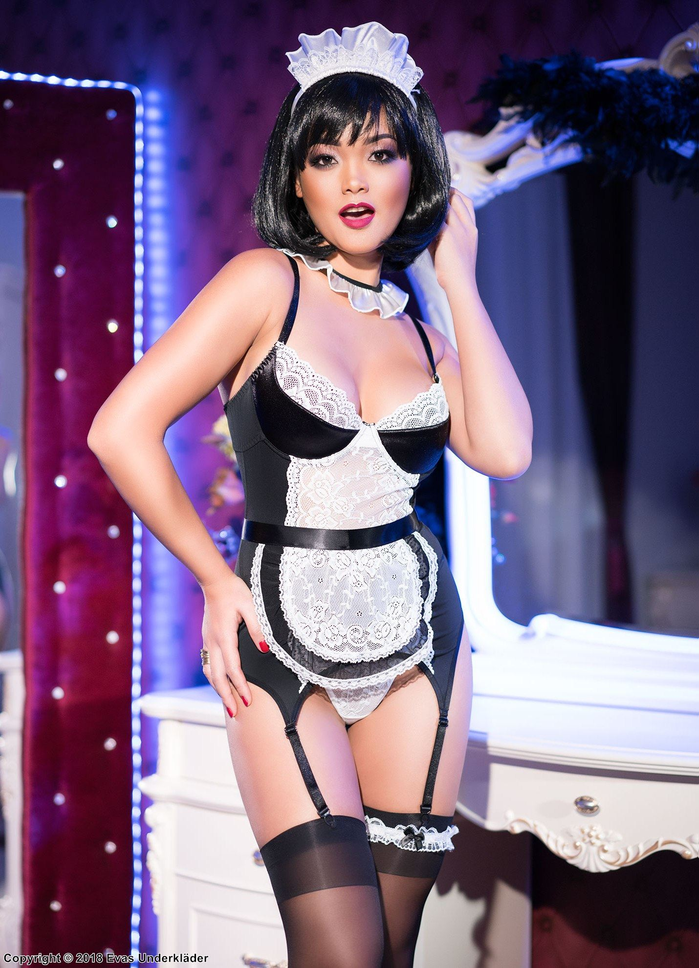 French maid, bustier